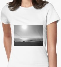 Walking on the Flats B&W Women's Fitted T-Shirt
