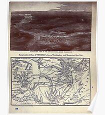 Civil War Maps 1843 Topographical map of Virginia between Washington and Manassas Junction Poster