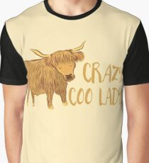 Crazy Coo (HIGHLAND COW) Lady Graphic T-Shirt