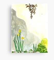 Sunny wall in Spring Canvas Print