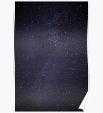 Starry Night time Skies Poster