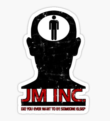JM Inc. from Being John Malkovich Sticker