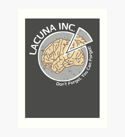 Lacuna Inc. logo from Eternal Sunshine of the Spotless Mind Art Print