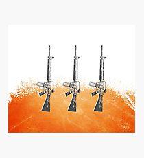 Proud Guns - Orange Gamer Photographic Print
