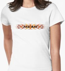 Hemi with Flames Women's Fitted T-Shirt