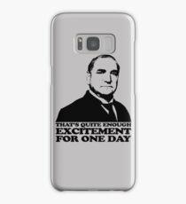 Downton Abbey Carson Excitement Tshirt Samsung Galaxy Case/Skin