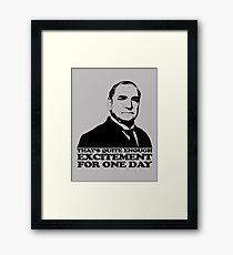 Downton Abbey Carson Excitement Tshirt Framed Print