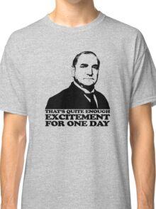 Downton Abbey Carson Excitement Tshirt Classic T-Shirt