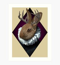 The Fancy Jackalope Art Print