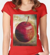 An apple a day........ Women's Fitted Scoop T-Shirt