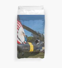 Huey Eagle One Helicopter  Duvet Cover