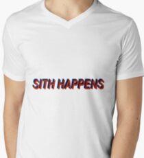 Star Wars Episode 7 Inspired ' Sith Happens ' Sh*t Happens Parody Men's V-Neck T-Shirt