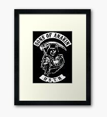 Sons of Anakin - starwars inspired biker patch Framed Print