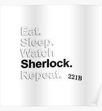 Eat, Sleep, Watch Sherlock, Repeat {FULL} Poster