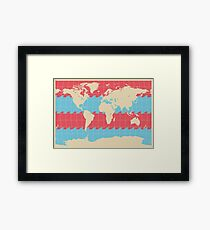 World Traveler Colorful Map of the Earth Framed Print