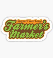 Support Your Local Farmer's Market Sticker