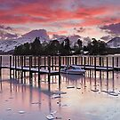 Winter sunset over Catbells and Derwentwater by Martin Lawrence
