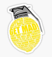 Portal 2 combustible lemon quote Sticker