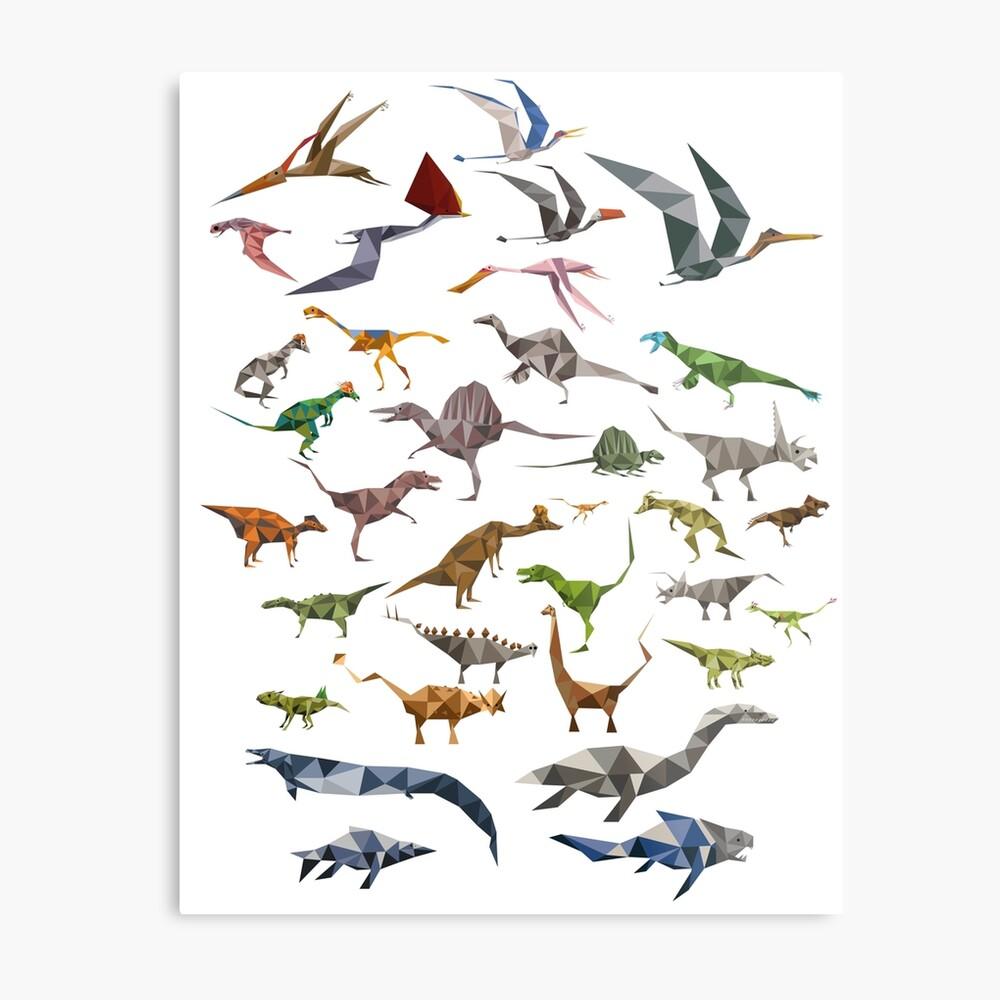 Farbige Dinosaurier-Karte Metallbild