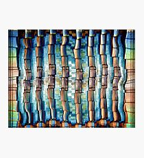 Abstract Architectural Pillars Photographic Print