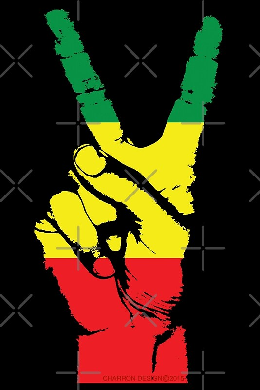 Rasta peace fingers 002 by stuph4kewlkidz