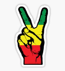 RASTA PEACE FINGERS-002 Sticker