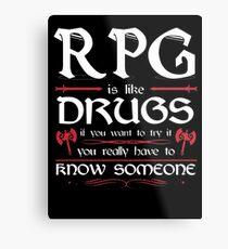 RPG - Roleplay Game Metal Print