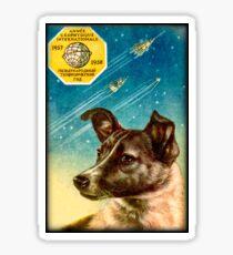 Laika the Sputnik 2 Russian Space Dog! Sticker