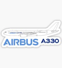 Airbus A330 Line Drawing Sticker
