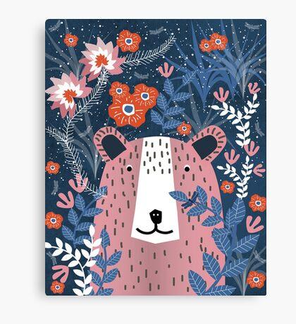 Bear Garden Canvas Print