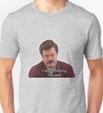 Ron Swanson- I Regret Nothing T-Shirt