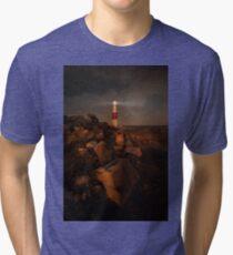 Evening coast with lighthouse Tri-blend T-Shirt