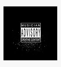Musician Advisory Photographic Print