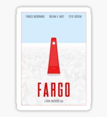 Fargo film poster Sticker