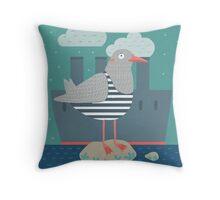 A seagull Throw Pillow