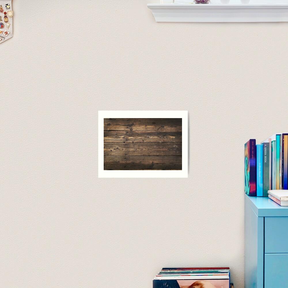 Impression Photo Planche Bois fond en bois texture avec une vieille, rustique, planches brunes |  impression artistique