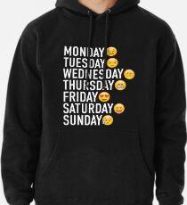 Stimmungen der Woche ausgedrückt durch Emojis Hoodie