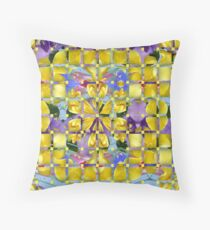 Lavender with yellow overlays Throw Pillow