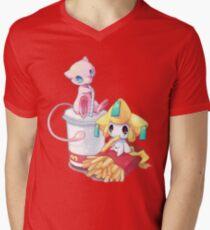 Jirachi & Mew Men's V-Neck T-Shirt