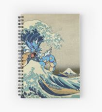 The Great Wave Off Gyarados Spiral Notebook