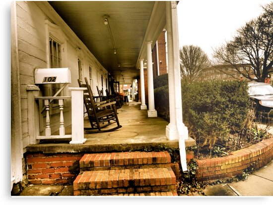 Rockin' the NuWray Inn's Historic Southern-Style Porch by Marielle Valenzuela