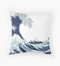 The Big Wave Throw Pillow