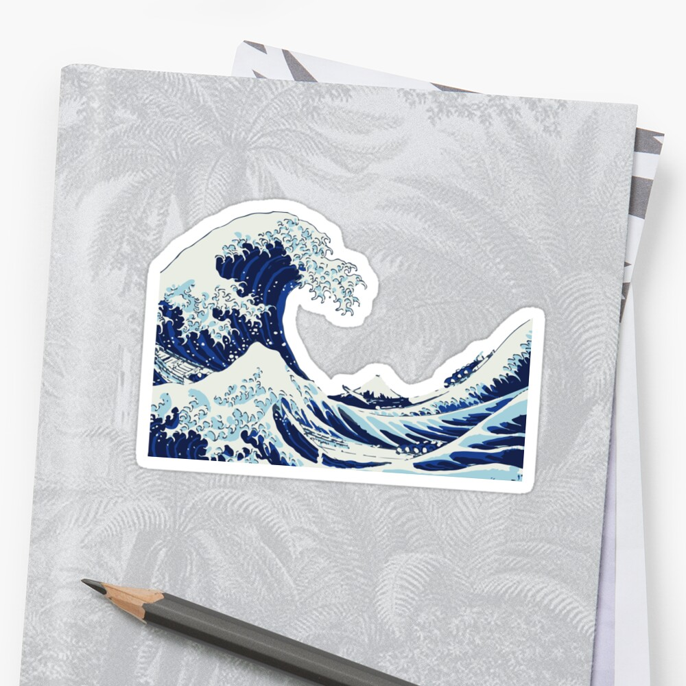 Quot The Big Wave Quot Sticker By Seijiart Redbubble
