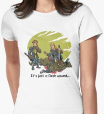 It just a flesh wound... Women's Fitted T-Shirt