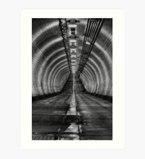 Woolwich foot tunnel Art Print