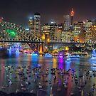 Sydney NYE Fireworks 2015 # 11 by Philip Johnson