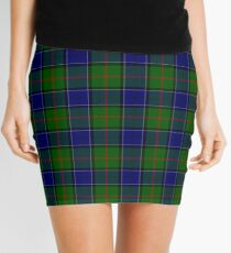 Blue and Green Clan Colquhoun Tartan Mini Skirt
