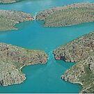 Aerial of Horizontal Falls, Kimberley, Western Australia by Margaret  Hyde