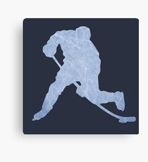 Hockey ice silhouette Canvas Print
