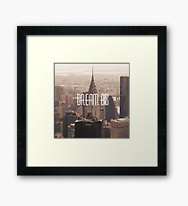 Dream big Motivation New York, America Framed Print